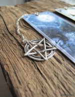 Detail of Pentacle Charm on Sun/Moon bookmark