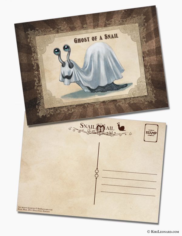 Snail Mail Postcard: Ghost of a Snail