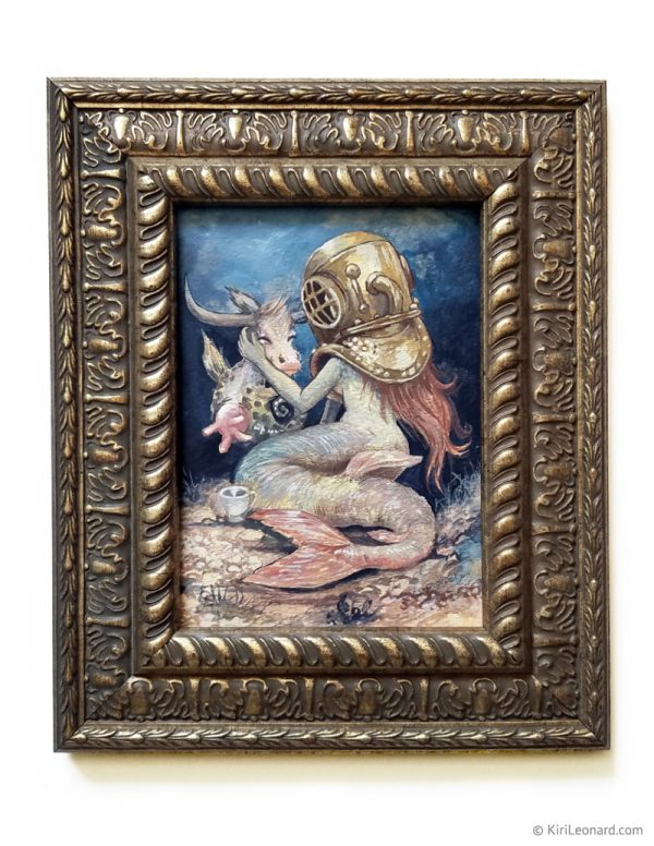Original Painting: The Mermaid and the Seacow