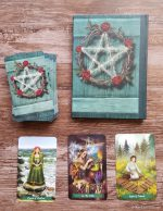 Back of Tarot Journal shown with Green Witch Tarot Deck