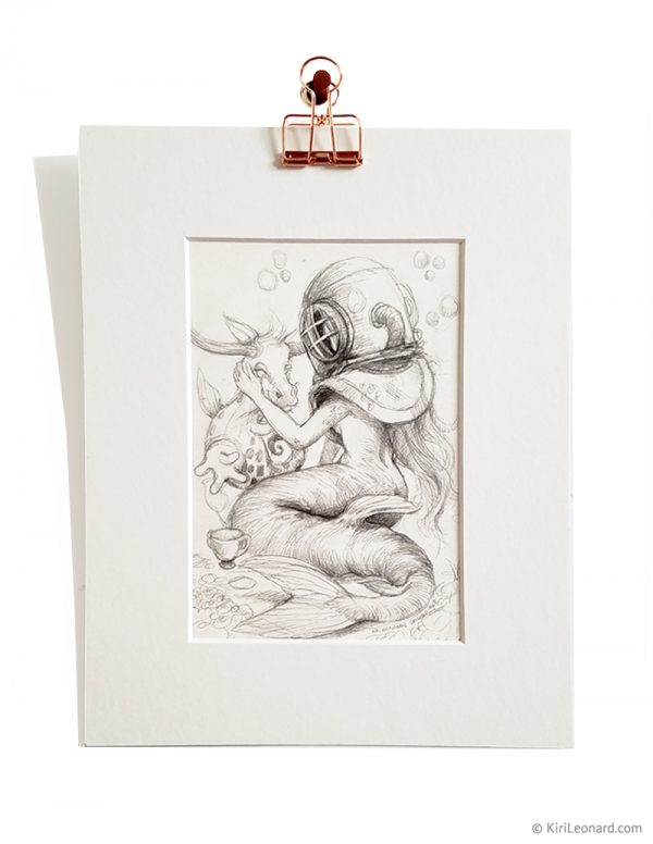 Original Drawing: The Mermaid and the Seacow