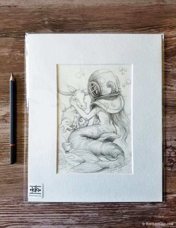 The Mermaid and the Seacow Sketch
