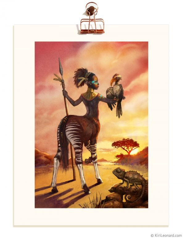 Print: The African Unicorn