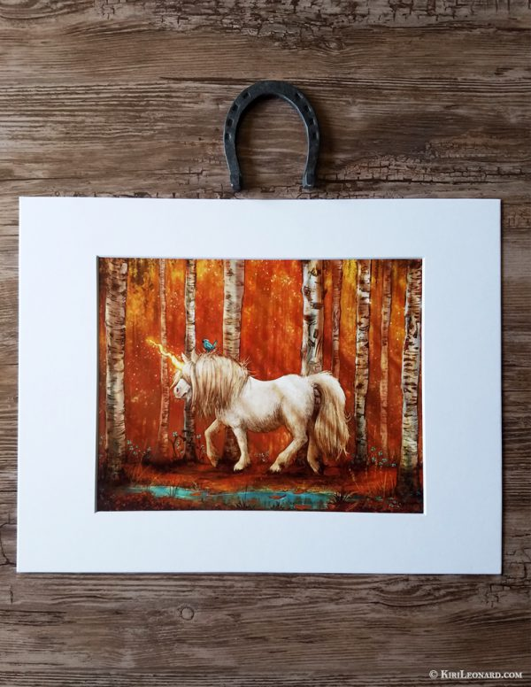 Matted Print: Year of the Unicorn - Autumn