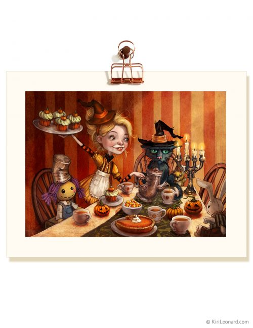 Print: Ivory Strange's Halloween Tea Party