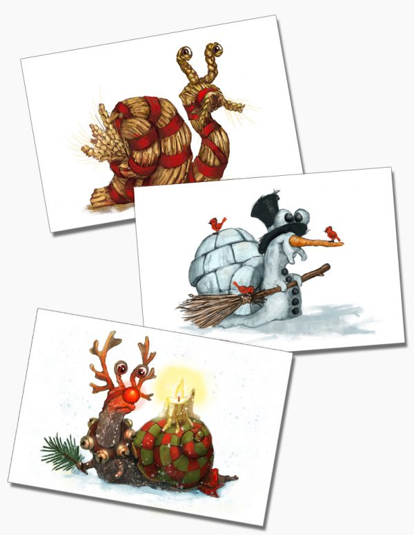 Snail Mail Postcards: Yule Collection