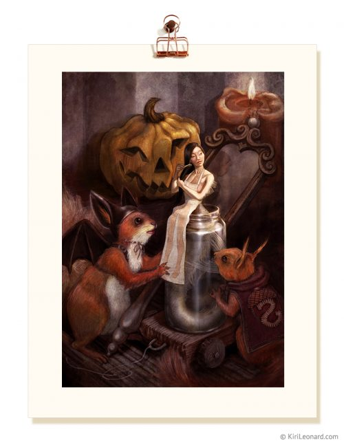 Print: The Little Mermaid's Halloween