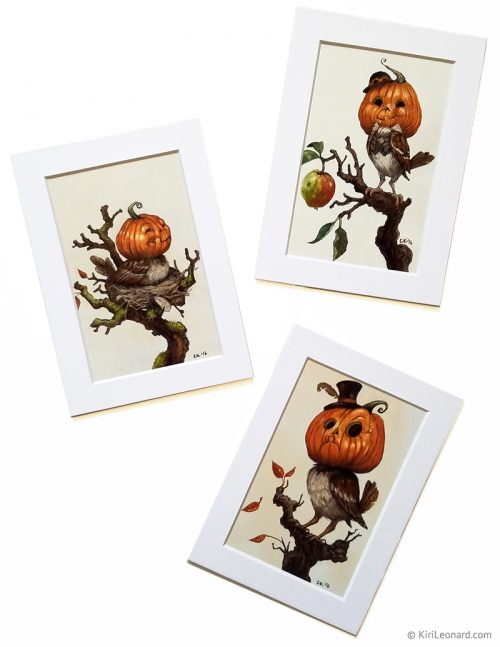 Mini Print Set: The Pumpkin Sparrows