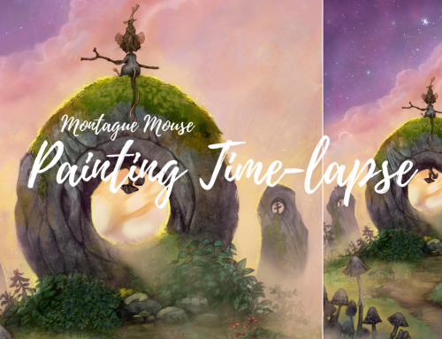 Painting time-lapse: Montague Mouse and the North Star