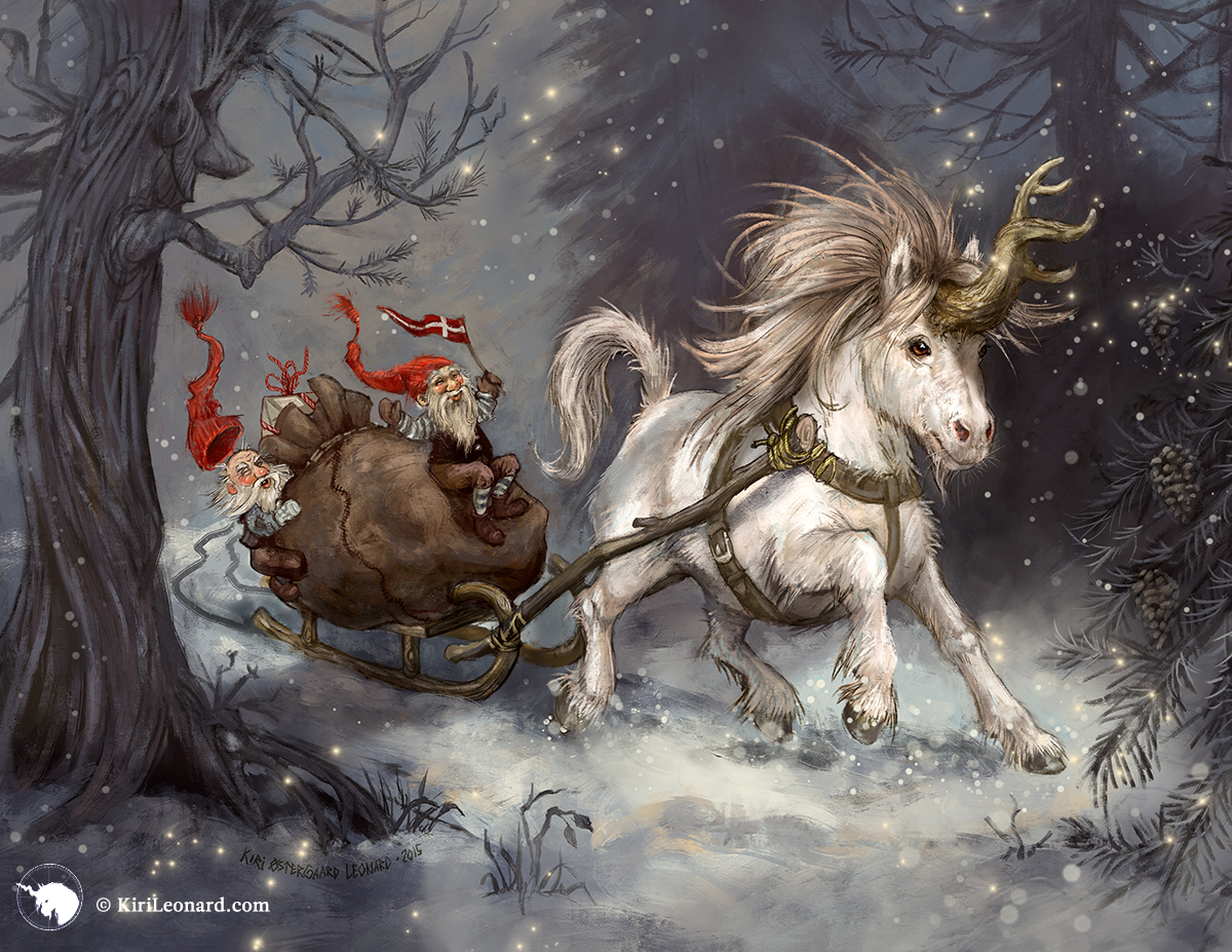 The Year of the Unicorn: Winter Wonderland © Kiri Østergaard Leonard, 2016