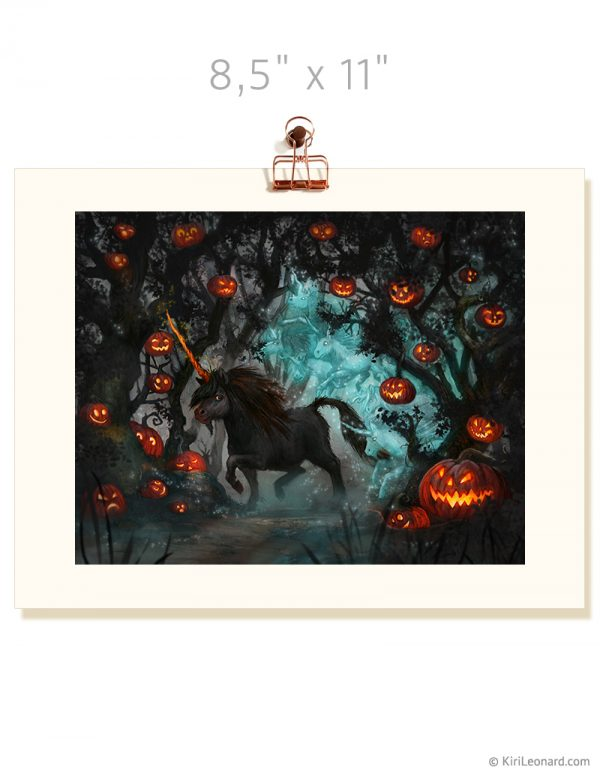 Print: The Year of the Unicorn - Halloween