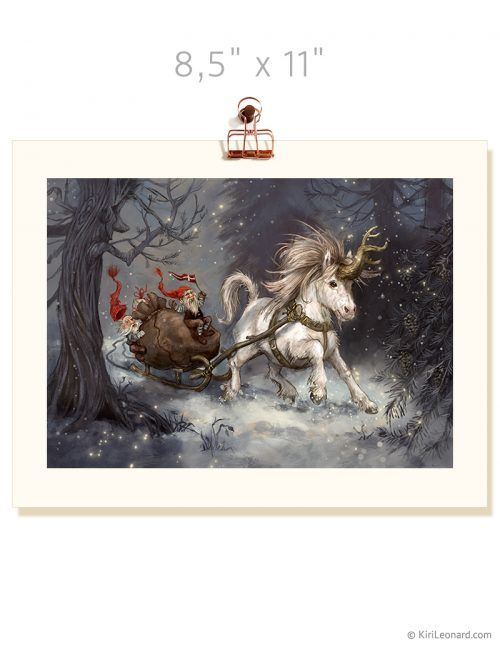 Print: The Year of the Unicorn: December / Winter Wonderland