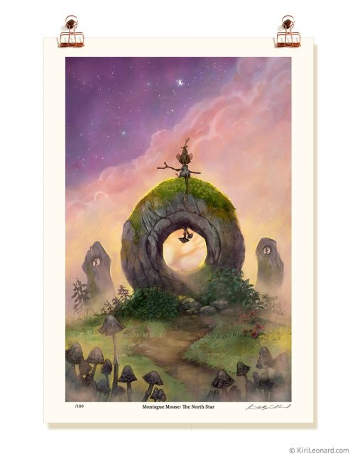 Montague Mouse: The North Star Print