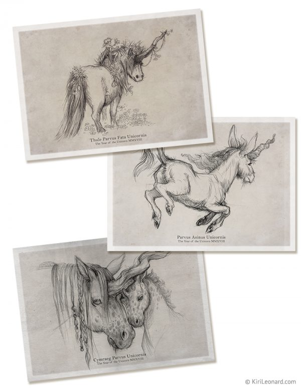 Prints: Unicorn Pencil Drawings