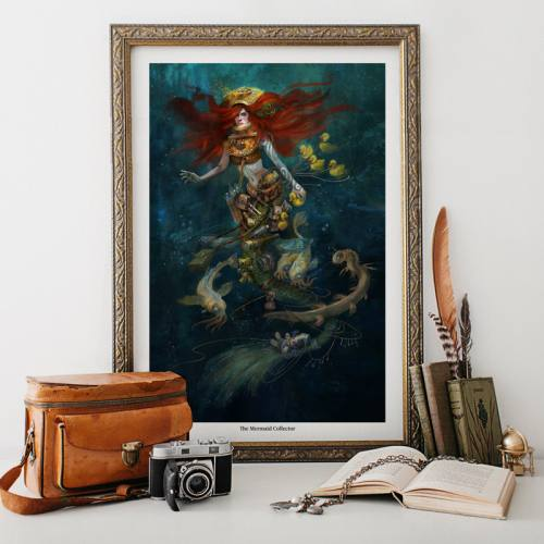 The Mermaid Collector Fine Art Print