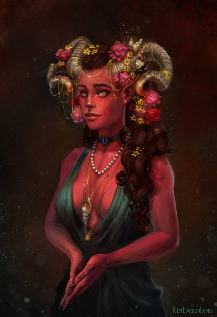 Critical Role Marion The Ruby of the Sea portrait illustration by Kiri Østergaard Leonard
