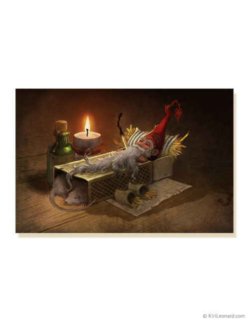 Print: The Sleeping Gnome