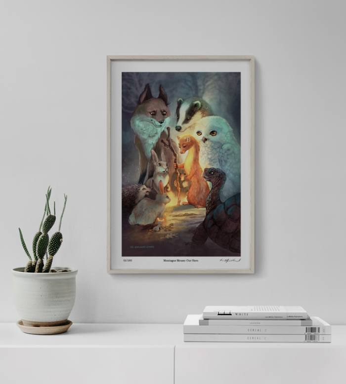 Montague Mouse: Our Hero Art Print