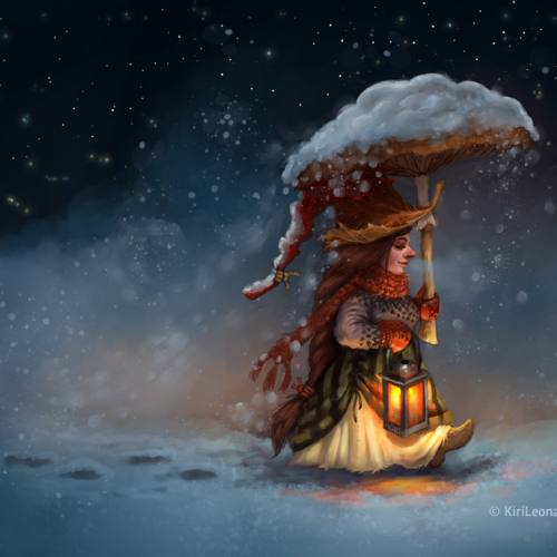 Art Print: Winter Tales (Gnome Series)