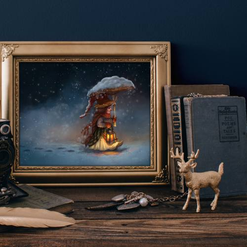 Art Print: Winter Tales (Gnome Series) by Kiri Leonard